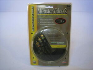Monster RCA Component Video Cable 3 RCA Connection 6.6ft New $9.99