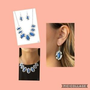 Terra Color Blue Necklace with matching Earrings By: Paparazzi