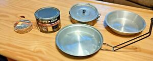 Stove in a can for camping or prepping. comes w backpacking skillet amp; pot pan