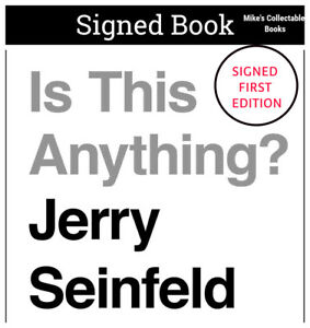 ✎✎SIGNED 1st Print Ed✎✎ Is this Anything? AUTOGRAPHED Book Jerry Seinfeld D COA $85.00