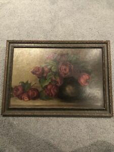 Red Rose Wooden Framed Painting $29.99