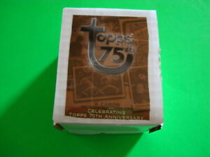 2013 TOPPS 75TH ANNIVERSARY 100 CARD BASE SET W COMPLIMENTARY 8 CARD MINI SET $6.95