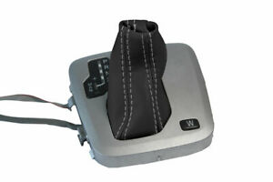 Automatic Shift Boot Cover Leather for Volvo XC90 2003 2014 Black Gray Stitch $22.99
