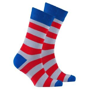 Socks N Socks Mens Red Armour Stripe Socks $12.76