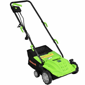 "12Amp Corded Scarifier 13"" Electric Lawn Dethatcher w 40L Bag Outdoor Green $89.49"