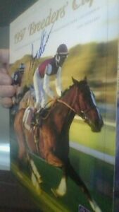 1997 breeders crp mag autographed by gary stevens lafitte pincay and jerry bail $35.00