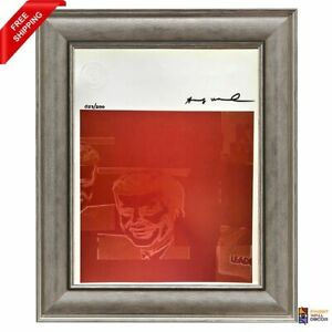 Andy Warhol Original Hand Signed Print with COA High Resale Value $350.00