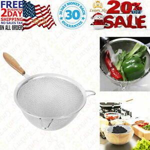 Fine Mesh Strainer With 9 Inch Large Stainless Steel Double And Reinforced Frame $24.95