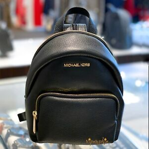 MICHAEL KORS ERIN SMALL CONVERTIBLE BACKPACK LEATHER BLACK $118.80