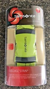 Samsonite Luggage Strap Belt Travel Accessory Neon Green ABS Buckle NEW $15.99