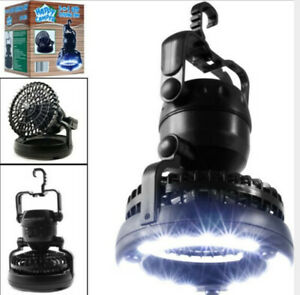 Portable LED Camping Lantern with Ceiling Fan 2 In1 Outdoor Emergency Tent Light