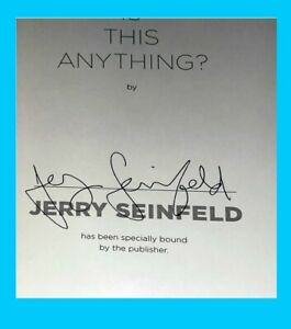Free Ship Jerry Seinfeld SIGNED quot;Is This Anything?quot; Book IN HAND Autograph $95.00