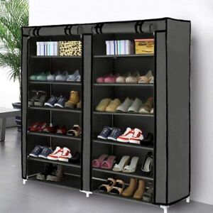 Blissun Shoe Rack Shoe Storage Organizer Cabinet Tower with Non Woven Fabric Cov $69.08
