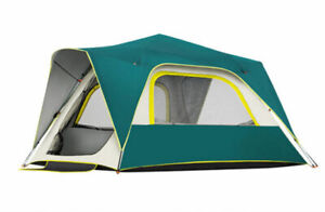 5 8 Person Double Layers Sun Proof Anti Hard Rain Instant Setup Camping Tent $199.99