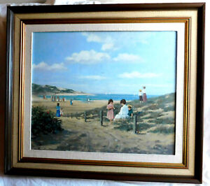 VERY FINE VINTAGE SIGNED ORIGINAL OIL PAINTING $375.00