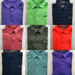 Under Armour Polo Playoff Golf Shirt Short Sleeve Top S M L 2XL 3XL 4XL DEFECT $27.97