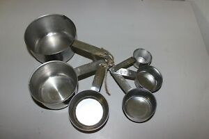 Vintage Foley Nesting Measuring Cup Set of 5 Stainless Steel $9.99
