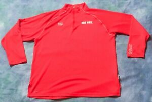 NIKE FIT DRY LEBRON JAMES OHIO ST MENS L S 1 4 ZIP FINAL FOUR PULLOVER SHIRT LRG $19.99