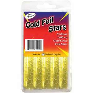 Foil Star Stickers 440 Pkg Gold 634901004647
