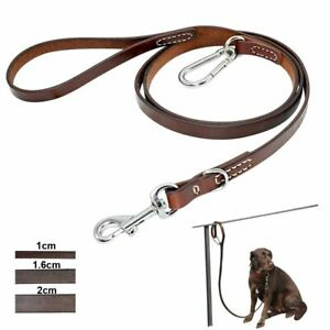 Durable Leather Dogs Leash High Quality Quick Release Multi function Leashes New