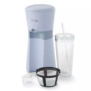 NEW Mr. Coffee Iced Coffee Maker W Tumbler Grey *IN HAND *FAST