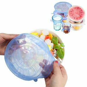 Silicone Lids High Quality Food Toppers Reusable Stretchable For Bowls 12 Pcs $18.76