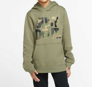 New Nike Big Boys Camo Print Just Do It Hoodie Size XL MSRP $40.00 $24.95