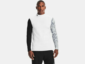 Under Armour Mens UA Armour Cold Gear Print Mock 1360577 100 White $34.95