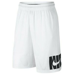 Nike Shorts Mens White HB Verbiage 11 Inch Basketball Training Small or Medium $29.99