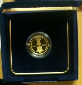 2011 W METAL OF HONOR $5 GOLD PROOF BOX CASE AND COA $524.00