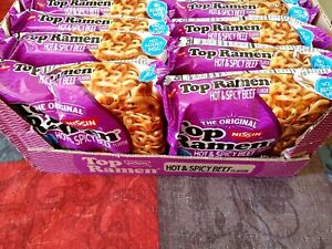 Nissin Top Ramen Noodles Hot amp; Spicy Beef Flavor 24 pack 3oz ea soup $23.99