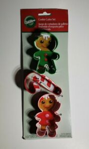 Frosted Fun Christmas 3 pc Metal Cookie Cutter Set from Wilton 0132 $7.60