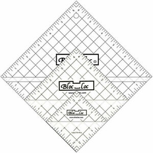 Bloc Loc Half Square Triangle Ruler Set #5 4.5quot;5.5quot;6.5quot; Acrylic Ruler $53.00