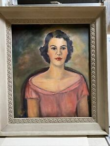ANTIQUE OIL PAINTING ON CANVAS WITH WELL MADE FRAME AND SIGNED $34.00
