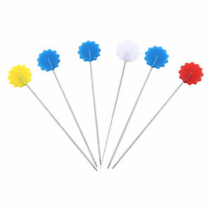 100pcs set Patchwork Pins Flower Button Head Pins DIY Quilting Tool Sewing T8Y3 $5.98