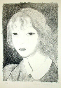 NuYrSale French Lithograph MARIE LAURENCIN #x27;Portrait of a Girl#x27; 55 100 8quot; x 5.7quot; $395.00
