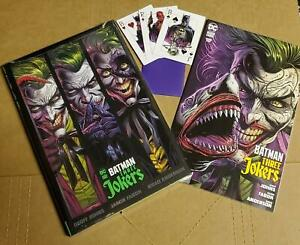 BATMAN: THREE JOKERS #1 3 3 Jokers Hardcover FREE Shark and BONUS card set