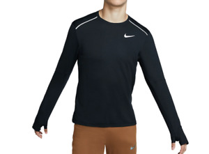 Nike Running Top Mens Large New Black Reflective Dry Element 3.0 Long Sleeve $39.99