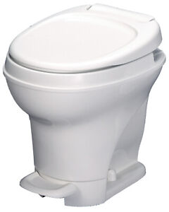 Aqua Magic V RV Toilet Pedal Flush High Profile White Thetford 31671