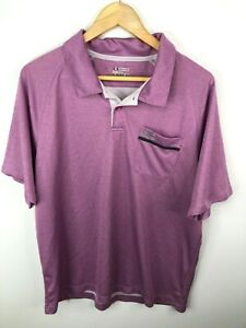 Under Armor Polo Golf Shirt Short Sleeve Purple Mens XL Fitted $19.99
