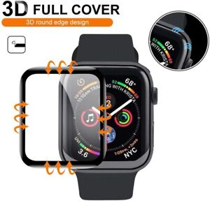 Tempered Glass Screen Protector For Apple Watch iWatch 6 5 4 3 SE 38 40 42 44 mm $3.49