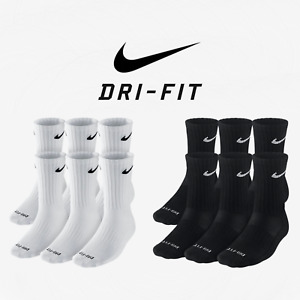 Nike Dri Fit and Performance Cotton Crew Socks 6 Pack Nike Everyday Plus Cushion $26.44