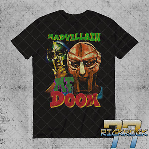 MF Doom T Shirt Vintage 90#x27;s Hip Hop Rap Unisex Tee Shirt