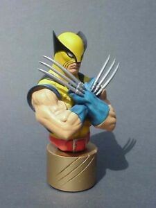 Wolverine 25th Anniversary GOLD Mini Bust #1307 2000 Statue BOWEN DESIGNS X Men $84.99