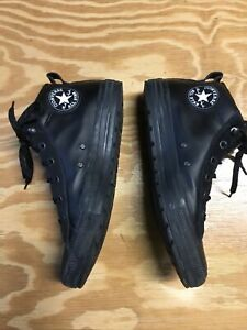 Converse Chuck Taylor All Star High Street Mid Leather Black Shoes Mens Sz 11 $39.99