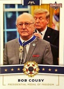 Decision 2020 Bob Cousy Donald Trump Metal of Freedom Political Trading Card $4.99