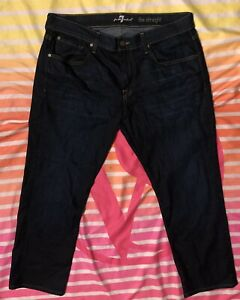 EUC Mens 7 For All Mankind Designer Jeans The Straight 36 X 28 34