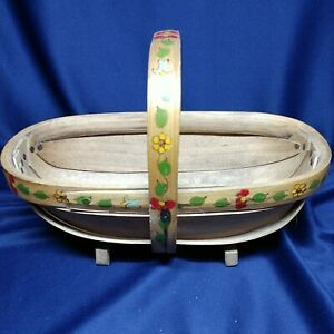 Antique basket footedpainted Unique made in England hand signed $28.99