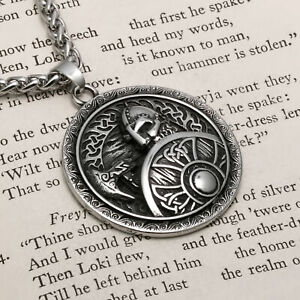 Viking Warrior Shield Stainless Steel Pendant Necklace $23.99
