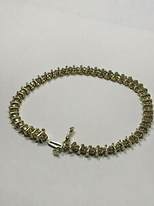 estate DIAMOND TENNIS BRACELET 14K SOLID GOLD 1 ct. t.w. 48 DIAMONDS 7quot;